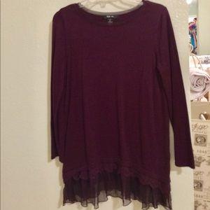 Style & Co. burgundy tunic
